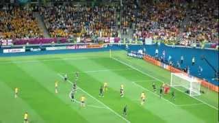 Olof Mellberg trifft bei der EM 2012 gegen England