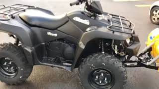 10. 2018 Suzuki King Quad 500 power steering with plow $8599 cash price Powersports of Carol Stream