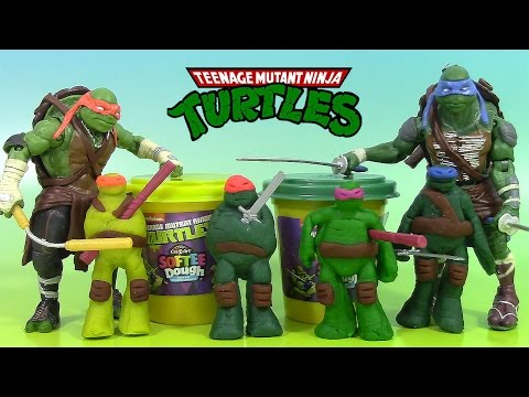 Pâte modeler Tortues Ninja Softee Dough Ninja Turtles PlayDoh TMNT