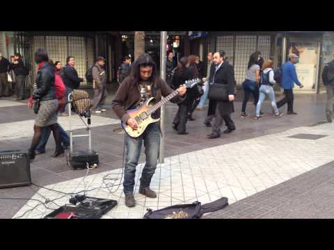 Edgardo: Rock Blues Guitar Street Musician