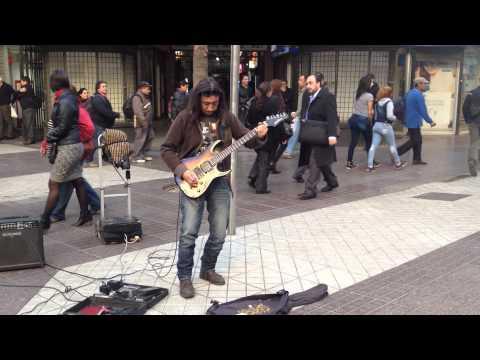 Edgardo: Rock Blues Guitar Street Musician