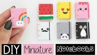 Video DIY MINI NOTEBOOKS - Four Easy & Cute Designs! MP3, 3GP, MP4, WEBM, AVI, FLV November 2017