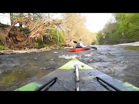 Kayaking and fishing the Catoctin creek with a bow cam