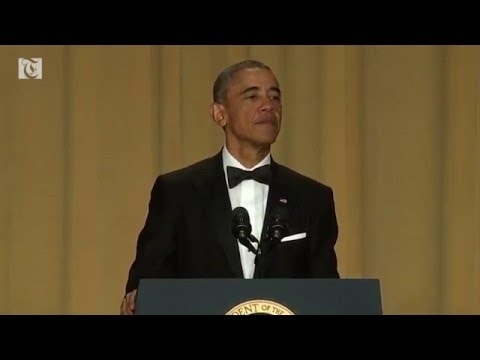 U.S. President Barack Obama draws big laughs as he roasts Republican presidential front-runner Donald Trump at the White House Correspondents' Dinner.
