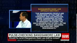 Should the current Bangsamoro Basic Law draft be revised?