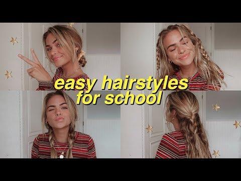 Easy hairstyles - 7 easy, heatless hairstyles for school!  Summer Mckeen