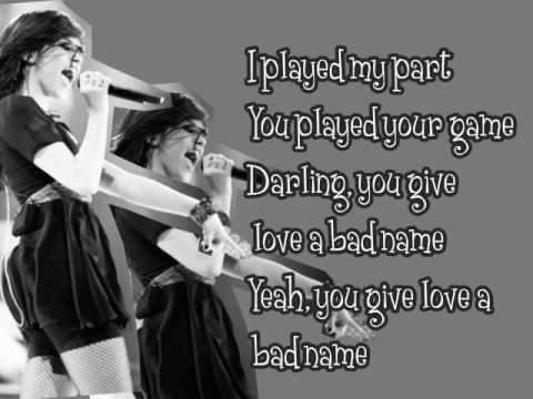 Tekst piosenki Demi Lovato - You Give Love A Bad Name po polsku