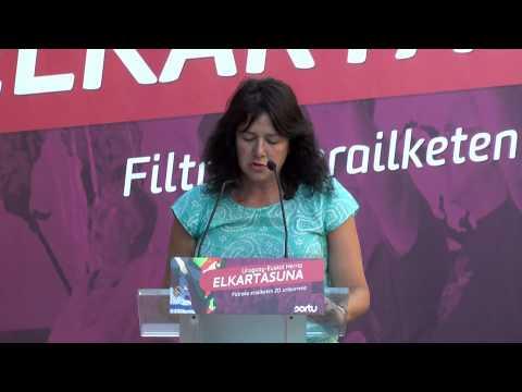 Carta de Norma Morroni, en el homenaje a los asesinados en Filtro hace 20 años