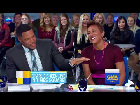 Charlie Sheen Talks About 'Mad Families' Live on 'GMA'