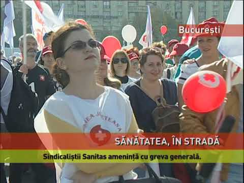 Sindicaliștii de la Sanitas au protestat în stradă