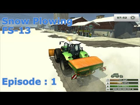 Snow Plowing - Farming Simulator 2013 EP:1