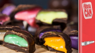 How To Make Rainbow Chocolate Drops | FridgeCam by SORTEDfood