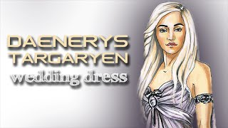 This is a drawing tutorial on how to illustrate Daenerys Targaryen's wedding dress from Game of Thrones using markers. Paper:...