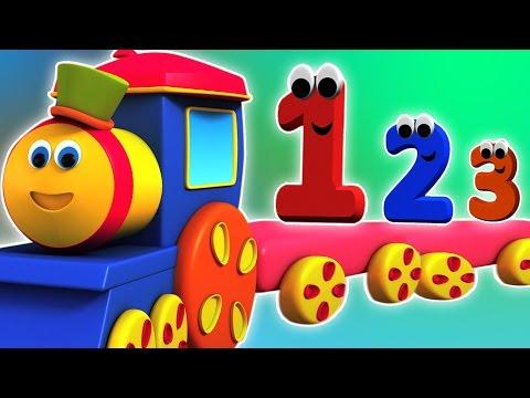 Bob treno avventura con i numeri | Fumetto 3D per i bambini | video educativo
