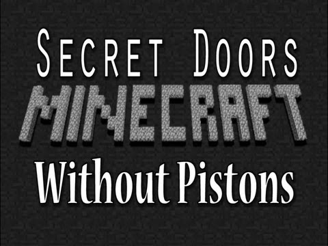 Tutorial: How to make Secret Doors on Minecraft