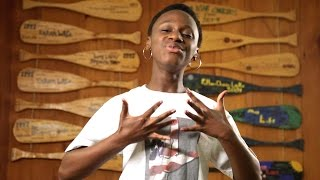 """<h5>Pharrell's """"Happy"""" in ASL by Deaf Film Camp at CM7</h5><p>This video is an ASL interpretation of Pharrell Williams's """"Happy."""" An expression of music in ASL composed by Rosa Lee Timm and Azora Telford. The video was produced by a team of Deaf campers & staff from Deaf Film Camp 2014 at Camp Mark Seven. </p>"""