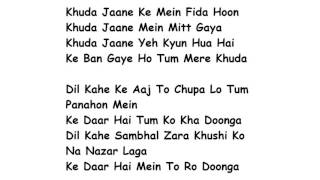 Khuda Jaane Lyrics Full Song Lyrics Movie - Bachna Ae Haseeno | KK, Shilpa Rao
