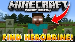 HOW TO FIND HEROBRINE in MCPE!! Minecraft PE Addon (Pocket Edition)