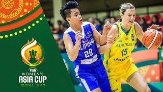 Watch the highlights of the game between Australia and Philippines from the FIBA Women's Asia Cup 2017. ▻▻ Subscribe:...