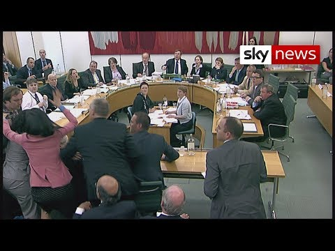 rupert murodch - Rupert Murdoch was attacked by a protestor wielding a shaving foam pie as he gave evidence at the Culture Media and Sport committee on phone-hacking. His wif...
