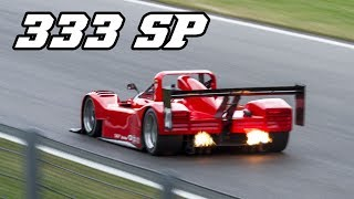 Ferrari 333 SP - Flames and great V12 sounds (Spa 2017)