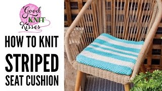 Knit a seat cushion perfect for outdoors. Video tutorial shows how to change size & make from beginning to end. Yarn is Bernat Maker Home Dec brought to you by Yarnspirations.comGet the pattern here, print and get ready to take notes for this class. https://goo.gl/JcV5DcGet the yarn:http://blog.yarnspirations.com/knit-seat-cushion/How to knit a seat cushion. Free pattern.Link for LOOM KNIT Version video https://youtu.be/10IMYgbWbDM