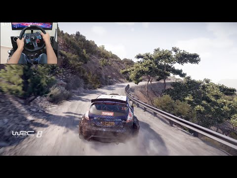 Ford Fiesta R5 - WRC 8 | Logitech g29 gameplay