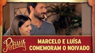 Marcelo e Luísa comemoram noivado com Poliana | As Aventuras de Poliana