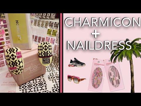 Decoracion de uñas - Decoración de uñas Veraniegas con NUEVOS Charmicon Words y Naildress Geométricos