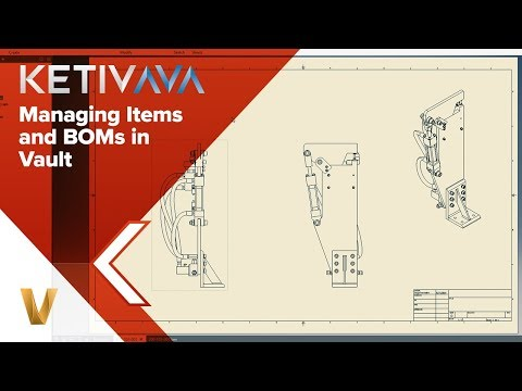 Managing Items and BOMs in Vault | Autodesk Virtual Academy