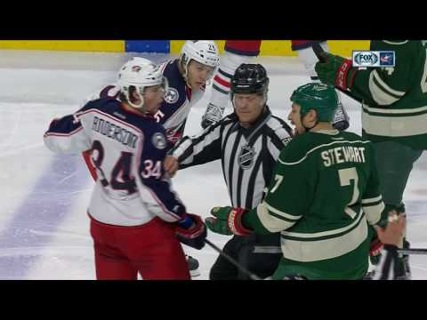 Video: Gotta See It: Multiple fights break out between Blue Jackets & Wild