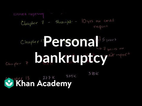 Personal Bankruptcy Chapters 7 And 13 Video Khan Academy