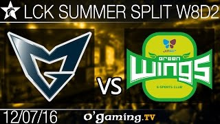 Jin Air Green Wings vs Samsung Galaxy - LCK Summer Split 2016 - W8D2