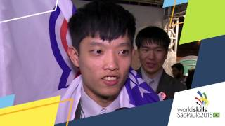 Sheng-Wei Ku, WorldSkills Competitor from Chinese Taipei in Cooking.