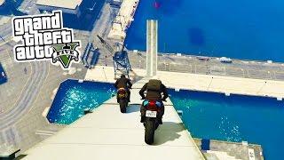 GTA 5 Online - BIKE STUNTS!!! Epic Bike Tricks & Stunts in GTA Online! (GTA 5 PS4 Gameplay)