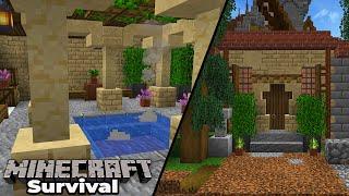 Minecraft 1.15 Survival : Medieval City Bath House