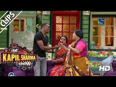 DJ-Bravo-getting-Lessons-on-Bollywood-The-Kapil-Sharma-Show--Episode-10--22nd-May-2016