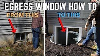 Egress Basement Window Installation |  How To | DIY Home Improvement