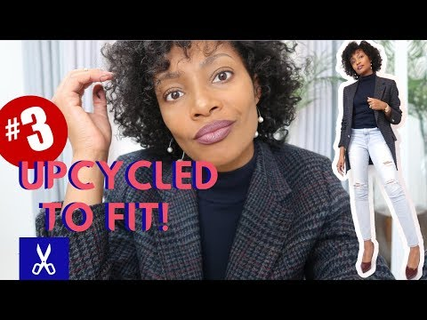 Turn A Men's Blazer Into A Woman's Blazer | UPCYCLED TO FIT!