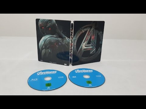 Avengers Age Of Ultron 3D Steelbook Edition Bluray movie unboxing