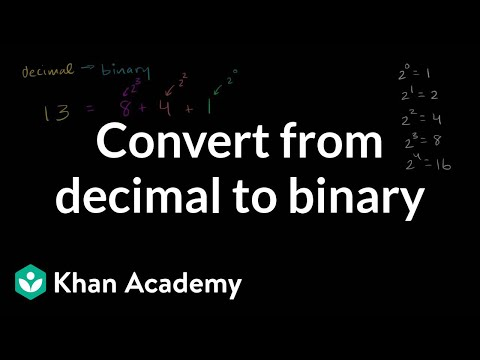 how to turn binary into decimal