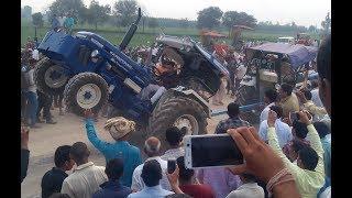 tractor tochan mukabla in Baroli, jind एक के बाद एक लगातार वीडियो part 1