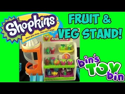Bin - We open and review the fun Shopkins Easy Squeezey Fruit and Veg Stand Playset featuring two exclusive Shopkins (a pumpkin and a coconut). Shopkins figures can play on a scale or slide down...