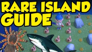 ANIMAL CROSSING RARE ISLAND GUIDE! How To Get Tarantula Island, Bell Island, and Shark Island! by Verlisify