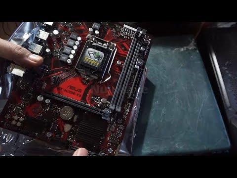 Unboxing Asus EX-H110M-V3/CSM for Kabylake series (Intel LGA-1151 ATX)