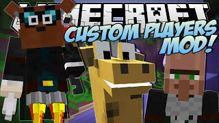 Minecraft | CUSTOM PLAYERS MOD (New Heads, Arms, Bodies and More! WearMC Mod!) | Mod Showcase
