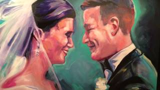 Live Portrait Painting: Emilee and Sean's Wedding