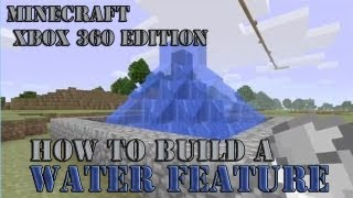 How To Build A Fountain / Water Feature On Minecraft Xbox 360 Edition