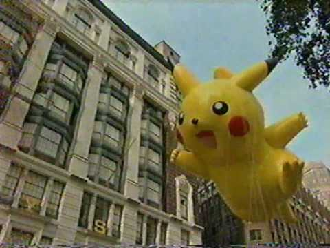 Pikachu Balloon in Macy's Thanksgiving Day Parade 2007