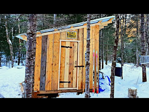 Building a Woodshed / Toolshed for the Dovetail Log Cabin    Off Grid Cabin